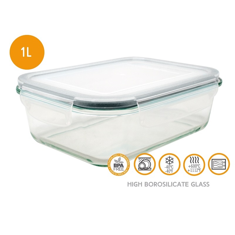 HERMETIC GLASS FOOD STORAGE 1.0L-FIH300 Malta, 						VINCI Malta Malta