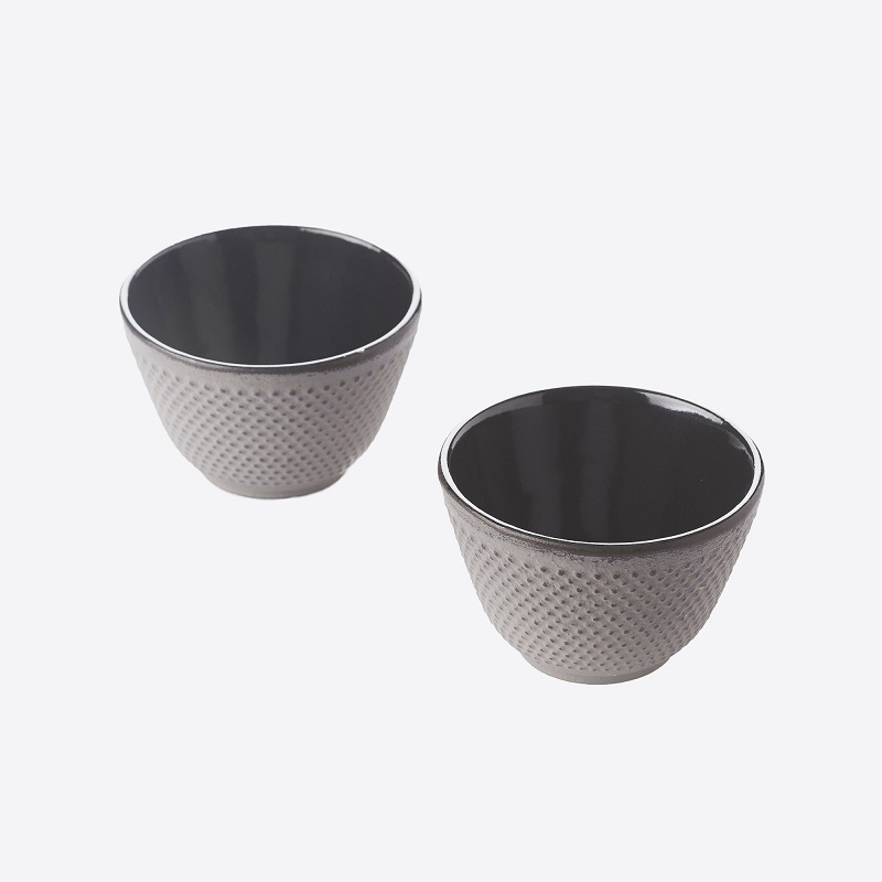 TEA CUPS CAST IRON SET OF 2 GREY 120ML Malta, 						VINCI Malta Malta