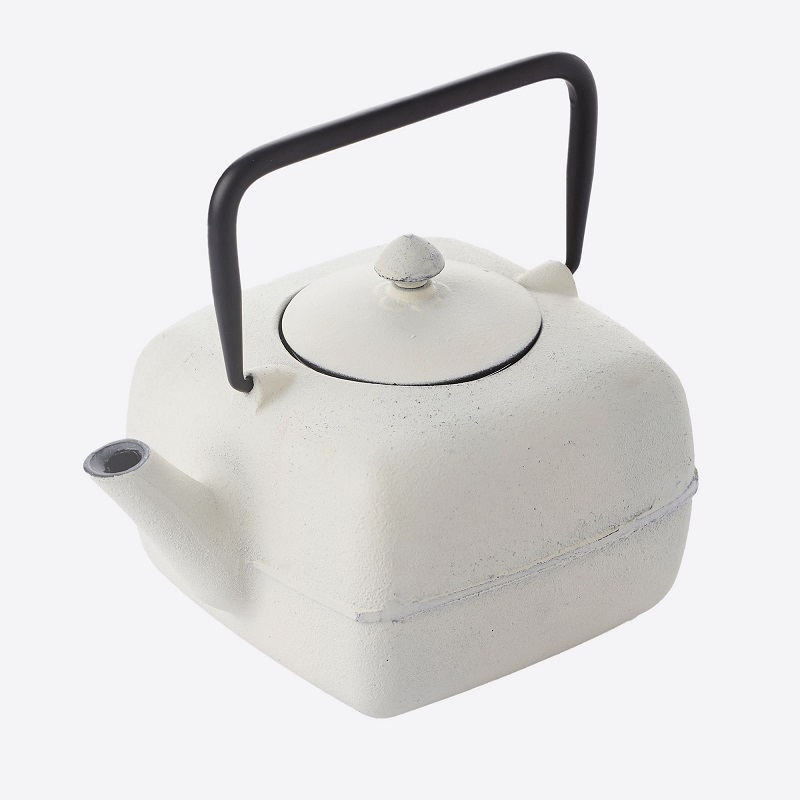 TEAPOT CAST IRON  WITH FILTER WHITE 1L Malta, 						VINCI Malta Malta